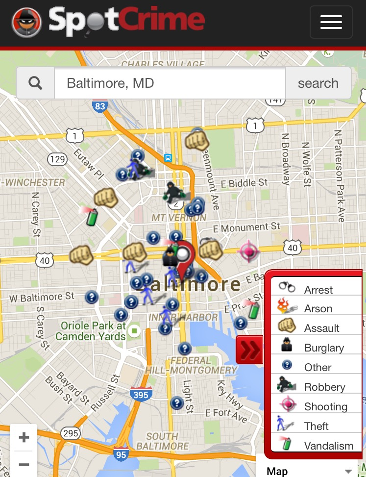 Crime in Baltimore - Baltimore, MD Crime Map - SpotCrime